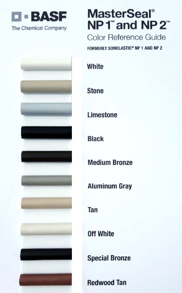 Caulking Color Chart